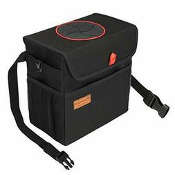 QUARKACE Car Trash Can, Leakproof Car Garbage Can with Lid,