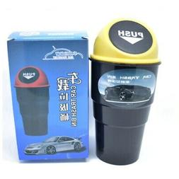 car trash can with lid garbage dust