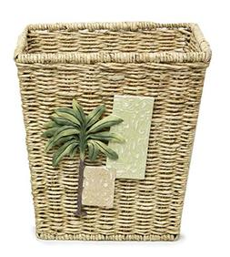 Bacova Guild Citrus Palm Garbage Can Wastebasket