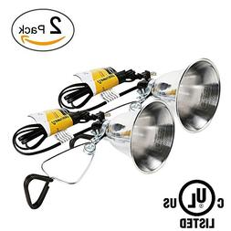 Simple Deluxe 2-Pack Clamp Lamp Light with 5.5 Inch Aluminum
