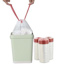 Pekky 2.6 Gallon Small Drawstring Trash Bags, Clear, Heavy D