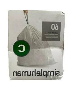 simplehuman Code C Custom Fit Liners, Drawstring Trash Bags,