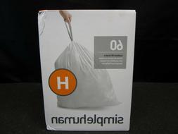 simplehuman Code H Custom Fit Liners, Drawstring Trash Bags,