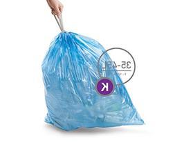 simplehuman Code K Custom Fit Recycling Trash Can Liner, 3 r