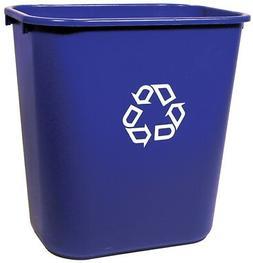 Rubbermaid Comm Prod 2956-73-BLUE Recycling Wastebasket, Blu