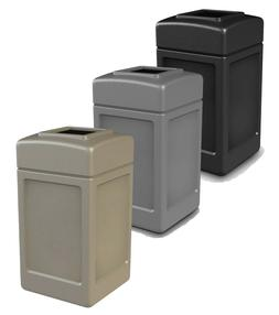 commercial outdoor trash can large 42 gallon