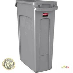 Rubbermaid Commercial Slim Jim Receptacle w/Venting Channels