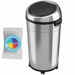 iTouchless Commercial Size Stainless Steel Trashcan, 23 Gall
