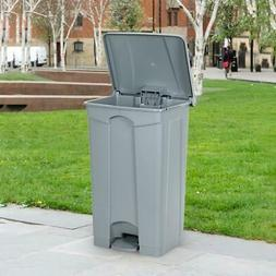 Commercial Tep-On Plastic Trash Garbage Can 23 Gallon Hands-