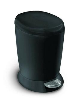 Compact Bathroom Trash Can Lid Step-On Home Garbage Waste Re