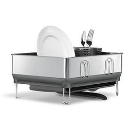 simplehuman Kitchen Compact Steel Frame Dish Rack with Swive