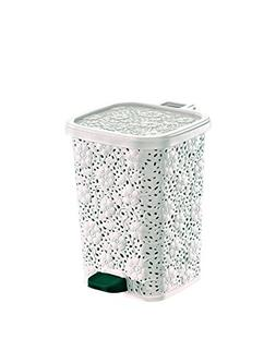 Superio Compact Trash Can, Lace Style, 6 Qt.