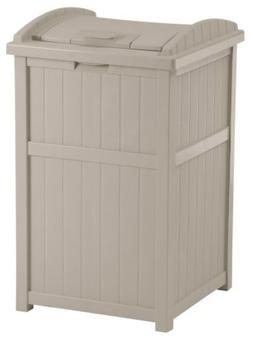 container garbage wastebasket hideaway outdoor shed resin