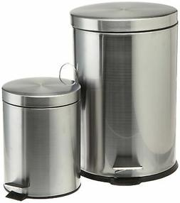 Prime Pacific Pro Cook Trash Cans, Set of 2, 5 L/20 L, Stain