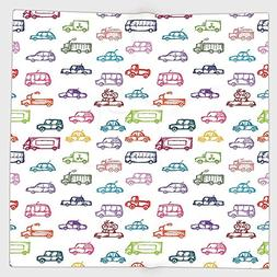 Cotton Microfiber Hand Towel,Cars,Various Types of Vehicles