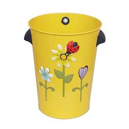 Creative Cute Trash Can Without Cover Metal Trash Can 10L Ho