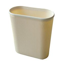 Battletter Creative Household Long Stripe Oval Trash Can