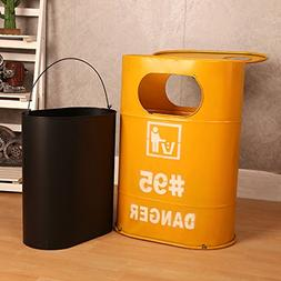 TY BEI Creative industry oil barrel trash can home living ro
