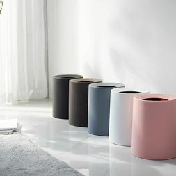 Creative Plastic Matte Trash Can Garbage Dust Home Office Wa