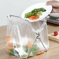 Creative Trash Can Storage Rack Kitchen Accessories Silver G