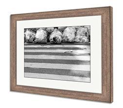 Ashley Framed Prints Crosswalk And Garbage Bags, Wall Art Ho