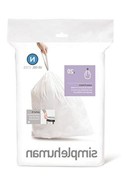 simplehuman Custom Fit Trash Can Liner N, 45 Liters / 12 Gal