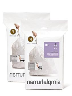 simplehuman Custom Fit Trash Can Liner F, 25 Liters / 6.5 Ga