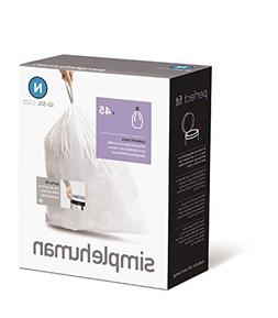 simplehuman Custom Fit Trash Can Liner N, 45-50 L / 12-13 Ga
