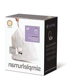 simplehuman Custom Fit Trash Can Recycling Liner V, 16-18 L/