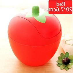 Honghong Cute Mini Strawberry Shape Garbage Can Bin with Lid