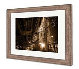 Ashley Framed Prints Dark Urban Alley At Night, Wall Art Hom