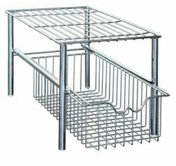 DecoBros Stackable Under Sink Cabinet Sliding Basket Organiz