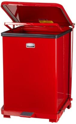 Rubbermaid Commercial Defenders Front Step-On Trash Can with