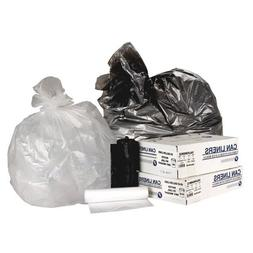 45 Gallon High Density Can Liner, 16 Micron Equivalent in Cl