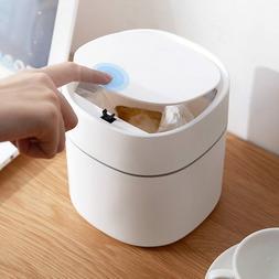 Desktop Bin Mini Trash Can Waste Garbage Table Basket Home S