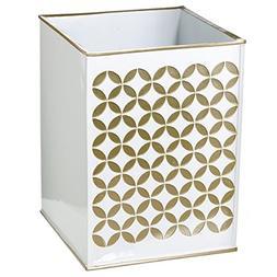 Diamond Lattice Bathroom Trash Can –Decorative Wastebasket