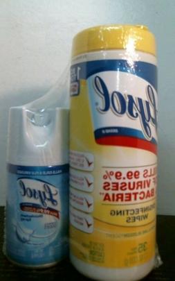 Lysol Disinfectant Spray, Crisp Linen 7oz & Disinfecting Wip