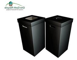 Disposable Cardboard Trash and Recycling Boxes: Bin + Lid +