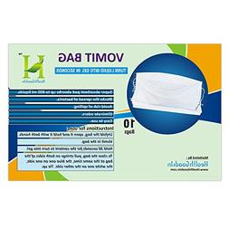 Disposable Vomit Bag with Absorbent PAD for Traveling | for