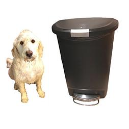 Dog-Proof Trash Can Locking 13 Gallon Kitchen Rubbish Foot S