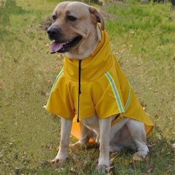 JYHY Dog Raincoat Adjustable Reflective Waterproof Lightweig
