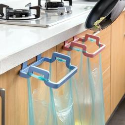 Door Back Portable Garbage Bag Holder Home Cabinet Rag Hangi
