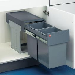Drawer Slide-Out Double Waste Bin - 30 Liter