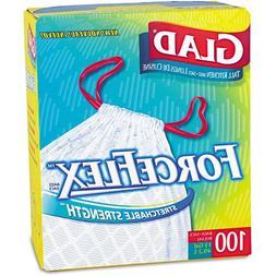 Glad Drawstring Forceflex Tall White Kitchen Bags