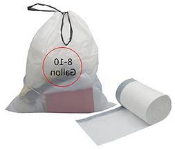 Feiupe 8-10 Gallon Drawstring Trash Bag Garbage Bag Trash Ca