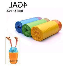 4 Gallon Drawstring Trash Bags, Small Trash Bags, Colorful G