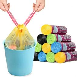 Drawstring Trash Bags for 10L-25L Garbage Can One Roll 15 Ba