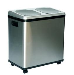 iTouchless 16 Gallon Dual-Compartment Stainless Steel Automa