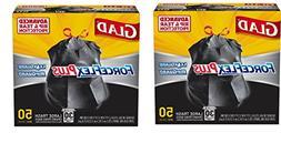 Glad Dual Defense vdrQLP Large Drawstring Trash Bags - 30 Ga