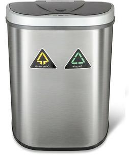 dual trash can bin for garbage